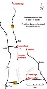 Map New Fork & Green River Drift dedication